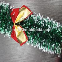 Christmas decorations gifts Christmas green white edge ribbon garland tops madder Christmas tree ornaments