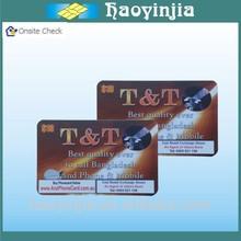 Fashion top sell pvc scratch phone card