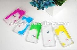 2015 new unique swimming fish liquid case for iPhone 6 stylish transparent Hard PC case for iPhone 6 Custom Liquid phone Cases