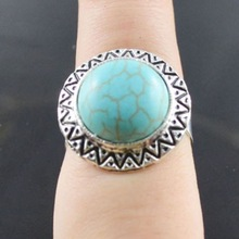 Fashion design alibaba wholesale Turquoise tibet silver ring
