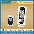 soporte de mesa estación meteorológica inalámbrica de la temperatura del reloj con la temperatura de grabación
