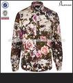 de algodón de flores hawaiano camisas de tela