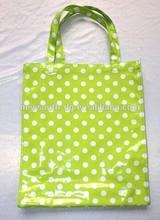 2014--2015 new design pvc&cotton fabric printed shopping bag