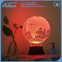 3d globe shape tall lava lamp FS-2817