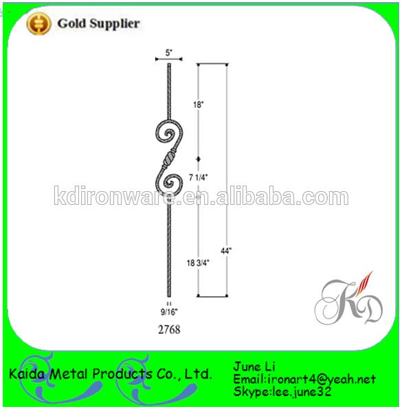 alta qualidade de ferro forjado portões modelos baluster trilhos