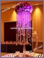 lindo casamento decoração de mesa de cristal flor de vidro stand