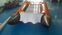 SANJ PVC Hull Inflatable Speed Cat Boat with Yamaha Outboard Engine