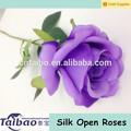 ผ้าไหมสีม่วงดอกกุหลาบก้านที่ยาวเดียว