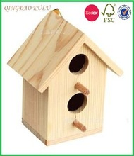 natural wood bird house condo,wooden carved bird house