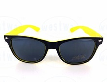 Well designed custom yellow frame sunglasses with good quality
