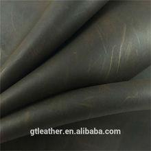 Cow split leather crazy horse pattern