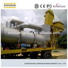Portable drum asphalt mixer, drum asphalt mixing plant with capacity 60t/h