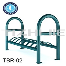 Standing steel pipe bike rack, universal bicycle rear carrier for bike parking