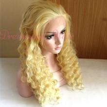 36inch blonde human hair full lace wig peruvian hair no shed no mix