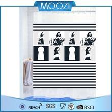 Blanco negro tiras de cortina para baño cortinas de plástico para Decking