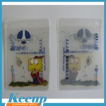 Business Card Use and PVC Material Fashion new pvc square clear vinyl business card holder