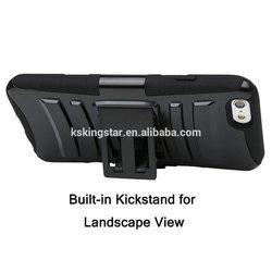 shockproof belt clip holster case for iphone 6,for iphone 6 belt clip holster kickstand case