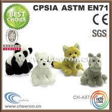 Panda, cat, fox, hippo animal shape plush toy animals