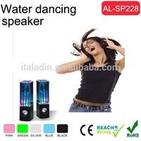 Digital water dancing speaker mobile mini speaker manual with Water White Transparent Liquid
