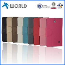Multiple color choice made in china factory new slik pu leather stand case for samsung tab 3