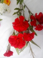 SJH122512 artificial flowers artificial red carnations artificial carnations for wedding decoration