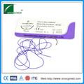 Ce& iso aprobado absorbible pga curva de agujas de sutura