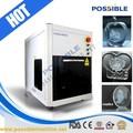 venda quente possível marca 3d cristal gravada a laser máquina de cubo