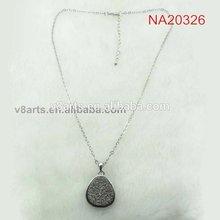 Alibaba fashion crystal gemstone sterling silver necklace