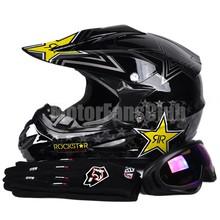 DOT Motorcycle Motocross Off-Road Racing Dirt Bike Helmet with Goggles Gloves Gear