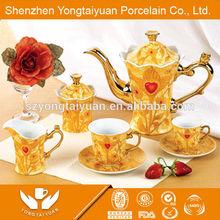 24pcs diamond Egypt tea set gold plated tea set