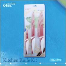 Best Sale 3Pcs Non-stick Color Coating Kitchen Knives Set