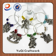 China supplier novelty design wine glass tags wine charms