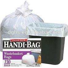 cheap LDPE plastic garbage bags, disposable PE trash bags, disposable plastic bin line made in china dongguan guangzhou shenzhen