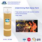 Undermining Mark Spray Paint