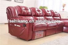 home use leather recliner sofa for elder living room sofa