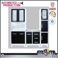 Moderni a basso prezzo armadio da cucina/cucina inox disegni/armadietti della cucina made in cina