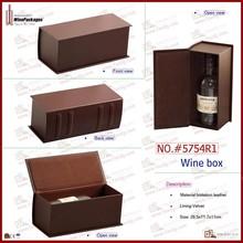 ucuz boş şarap şişeleri kitap şeklinde şarap kutusu tek şişe tasarımı