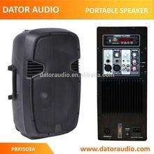 15 inch cheap JB-L portable plastic molded active speaker box,bluetooth speaker box,USB speaker