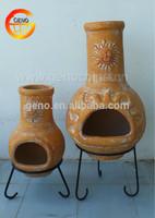 Antique Outdoor Clay Chiminea for Garden Use