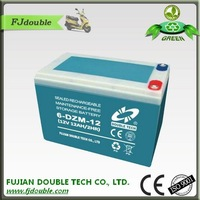rechargeable lead acid china factory electric vehicle 24v 6-dzm-12 12v 12ah batteries