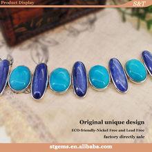 hot new products aliexpress fashion bracelets amazonite kyanite 925 sterling silver gemstone natural stone ornaments