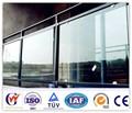 vidrio templado y aluminio balcón barandilla de diseño para la venta