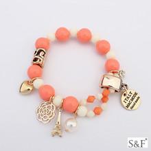 106376 Rhodium plated 2015 women accessories rhinestone bracelets