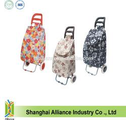 foldable oxford kids trolley school bag with 2 wheels