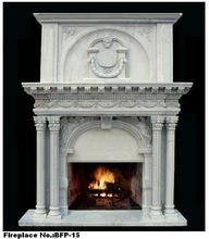 Decor Outdoor Marble Fireplace Surround