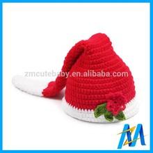 Fashion Red Newborn Baby Hats Child Crochet Hat Crochet Baby Costume