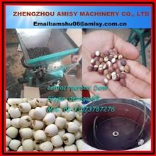 30kg/h small capacity dry lotus nut sheller/lotus sheller /lotus seed remove machine