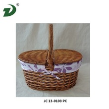 2014 Wire wood poly rattan hanging chair willow basket