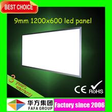 High quality 9mm 90lm/w 90w 72w 60w led panel 1200x600
