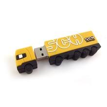 Any shape is ok truck usb flash drive custom rubber usb flash drive